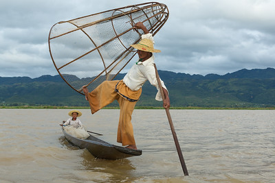 Fishing on Inle Lake, Myanmar.