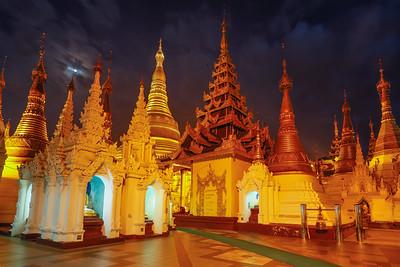 Schwedagon at Night, Myanmar