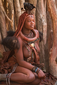 Portrait of a Himba Woman, Namibia.