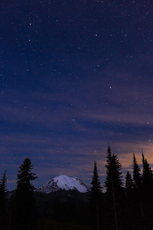 Starry Night, Mt. Rainier.