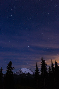 Starry Night, Mt. Rainier.