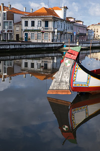 Reflections of Aveiro, Portugal.