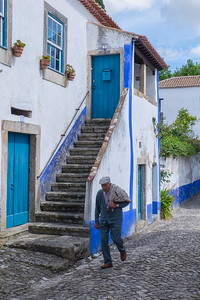 Walking through Obidos
