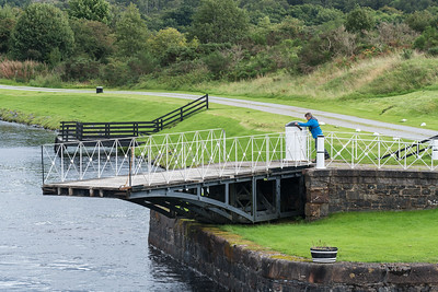 Drawbridge on Caledonian Canal