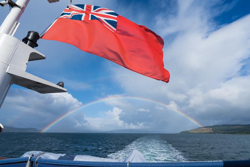 Rainbow and British Flag