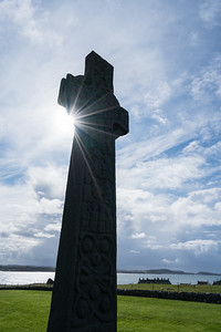 Celtic Cross Silhouette, Iona Abbey, Scotland