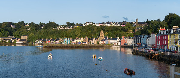 Panorama of Tobermory Town, Scotland.