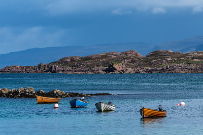 Iona Harbor and Dinghies, Scotland.