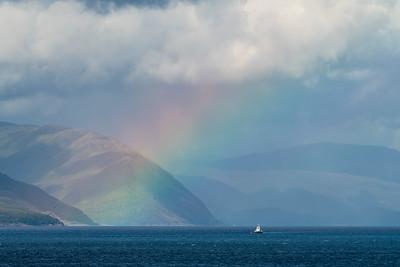 Rainbow over Sound of Mull