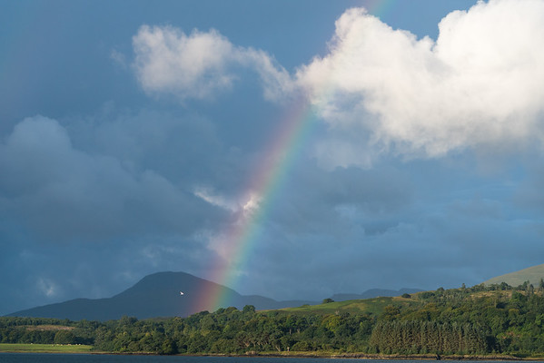 Rainbow and Clouds, Isle of Mull.