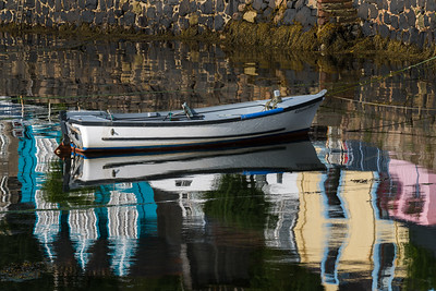Dinghy and Reflections, Tobermory, Scotland