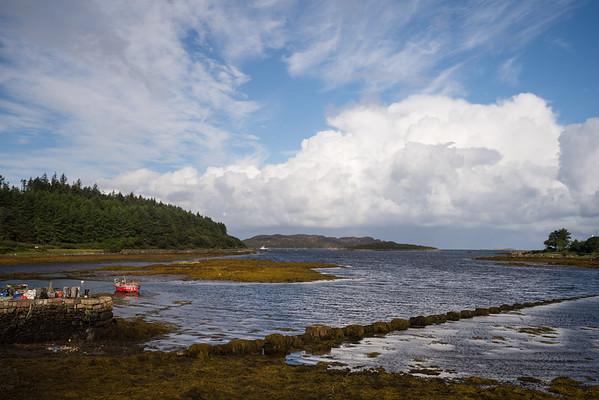 Vista over water at Bunnessan, Scotland.