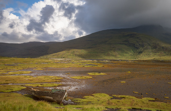 Tidal Marsh and Old Boat, Scotland