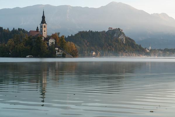 Autumn morning on Lake Bled, Slovenia.