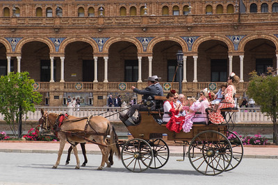 Festival carriage ride, Seville.