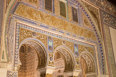 Moorish style architecture at the Alcazar.