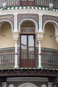 Ornate moorish architecture, Seville.