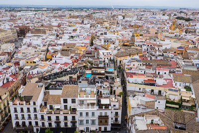 View over rooftops in Seville.