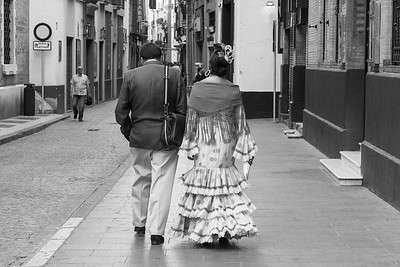 Dressed for the Seville Fair, Spain.