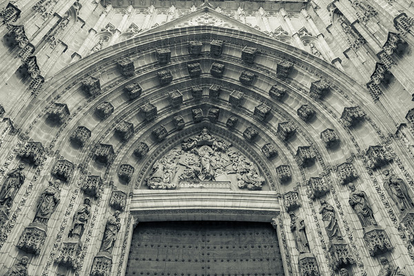 Imposing Cathedral Doors, Seville, Spain.