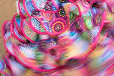 A swirling flamenco dress.