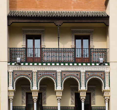 Building exterior with Moorish style.