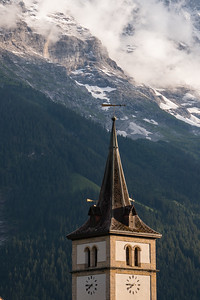 Church Steeple and Alps