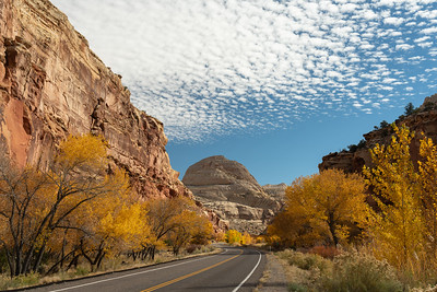 Clouds above Capitol Reef