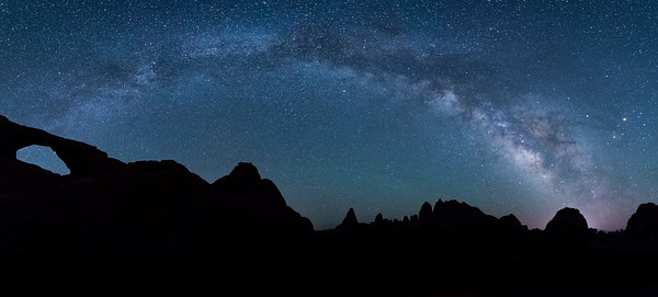 MIlky Way over Sunset Arch.