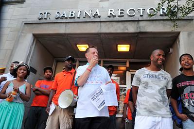 THE FAITH COMMUNITY OF SAINT SABINA HOLDS THEIR WEEKLY MARCH ON FRIDAY JULY 22, 2016 THAT BEGINS AT SAINT SAINA'S CATHOLIC CHURCH. PHOTOS BY VALERIE GOODLOE