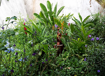 My Main Garden with Garden Art Bird