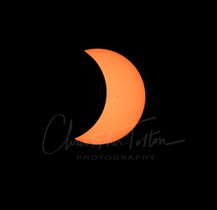 SUNSPOTS REAPPEAR AS MOON MOVES ON
