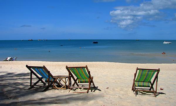 Deckchairs on a Beach