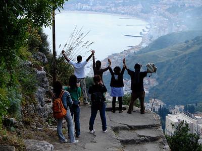 Tourists Enjoying the View - Sicily