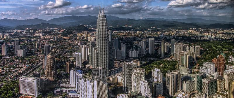 Panorama of Kuala Lumpur from the Radio Tower