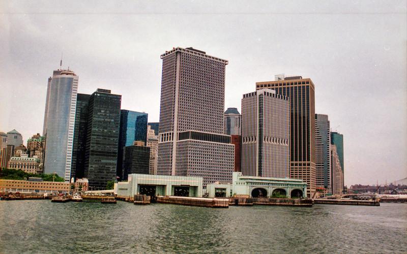 Manhatten from Staten Island Ferry - 1999