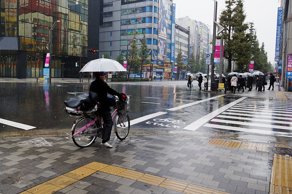 Bicycle in the Rain - Tokyo