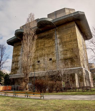 World War 2 Artillery Platform in Vienna