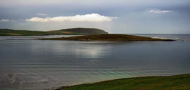 Eynhallow Island in Eynhallow Sound