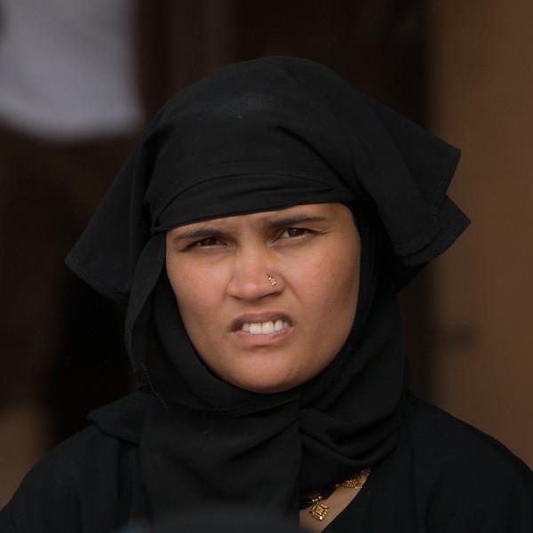A Moslem woman, Fatepur Sikri