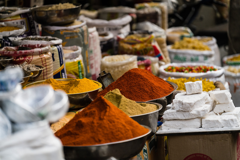 Spices in the market, Udaipur.