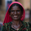 A woman in Jaisalmer