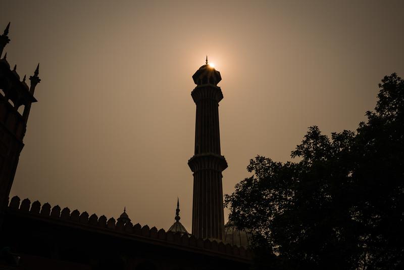 Minaret at theJama Masjid, Delhi