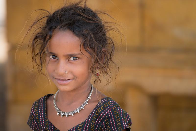 A young Street Girl in Jaisalmer.