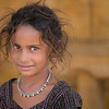 A young Street Girl in Jaisalmer.