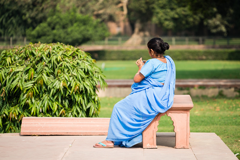 A lady at the Red Fort, Old Delhi