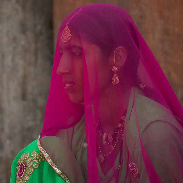 Veiled woman, Jaisalmer