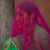 Veiled woman, Jaisalmer