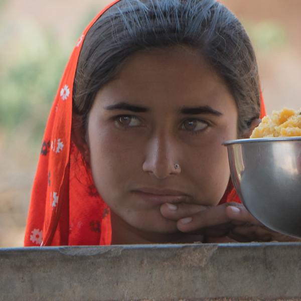 Girl at a school, Rohet, Thar Desert, Rajasthan