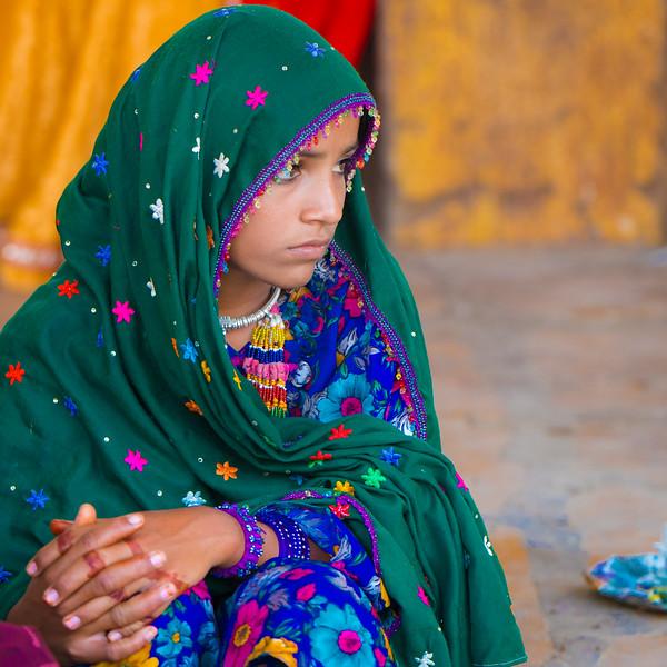 Girl in market, Jaisalmer